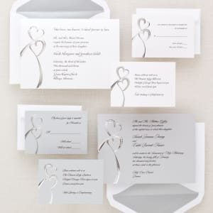 Twin Hearts Wedding Invitation