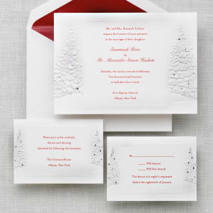 Winter's Romance Wedding Invitation