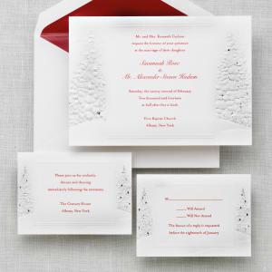 Winter's Romance Wedding Invitation