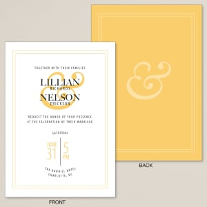 Love & Affection Wedding Invitation