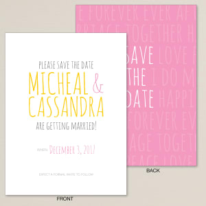 Love Letter Save the Date Card