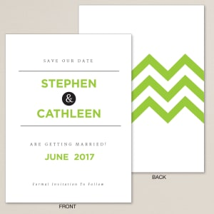 Electric Chevron Save the Date Card