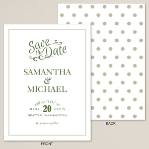 Great Vibes Save the Date Card