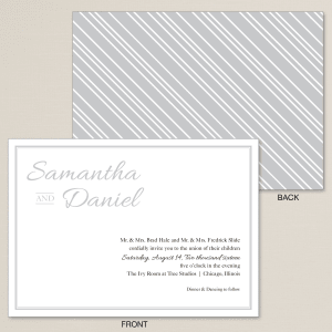 Pinstripe Wedding Invitation