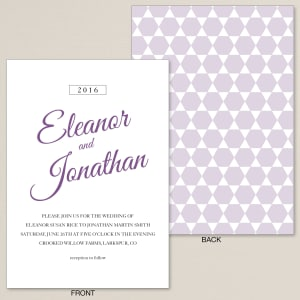 Retro Hexagon Wedding Invitation