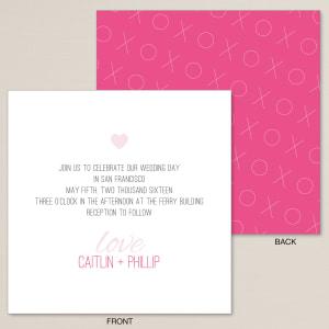 XOXO Wedding Invitation