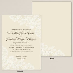 Timeless Lace Wedding Invitation