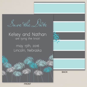 Dandelion Meadow Save the Date Card