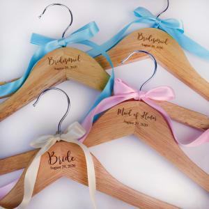 Personalized Wooden Wedding Hanger
