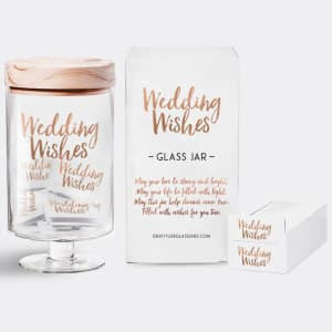 Wedding Wishes Gratitude Glass Jar