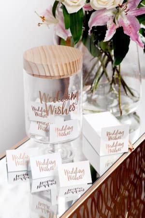 Wedding Wishes Gratitude Glass Jar