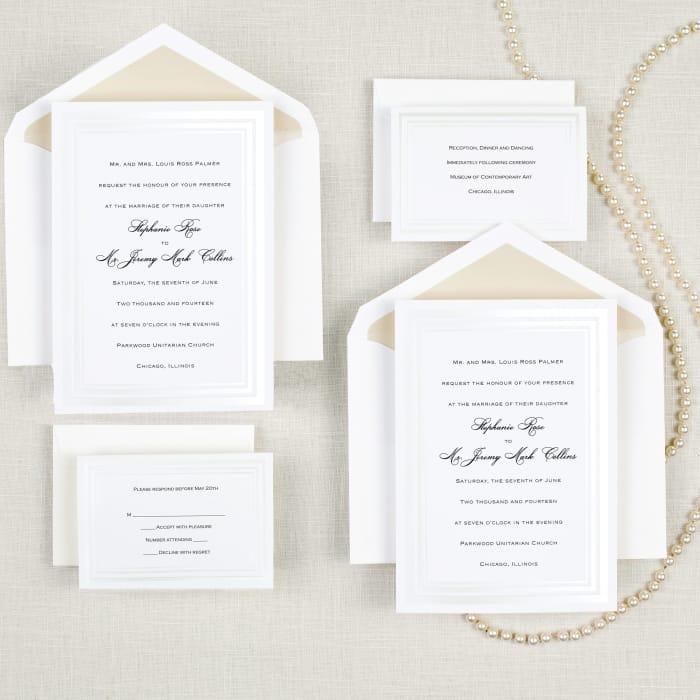 Pearl Pleasure Wedding Invitation | Exclusively Weddings