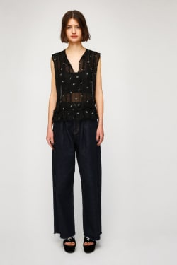 LACY EMBROIDERY Tops