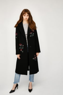 FLOWER EMBROIDERY COAT