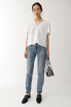 EYELET BUTTON Blouse
