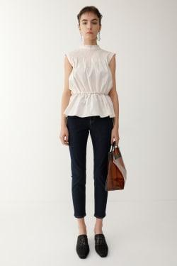 WAIST GATHER SHIRRING blouse