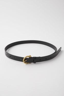 ROUND BUCKLE LEATHER Belt