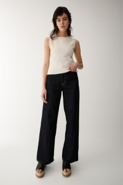 RIB KNIT CROPPED Tops