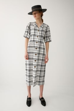CHECKERS FRONT BUTTON dress