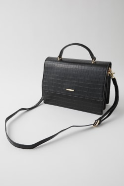 FAUX CROCO 2WAY bag
