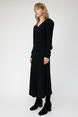 PUFF SHOULDER LONG dress
