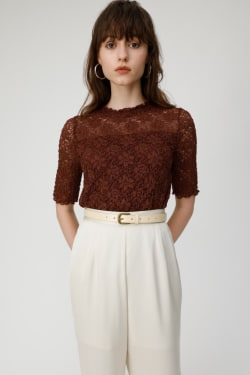 WRINKLE LACE top