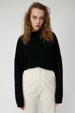 High NECK RIB sweater