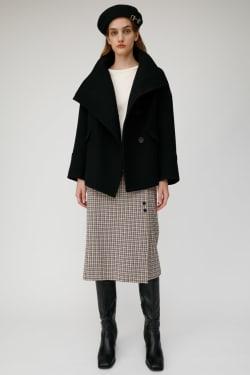 BIG COLLAR WOOL SHORT coat