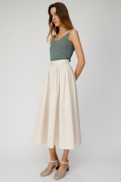 High Waisted GATHER LONG Skirt