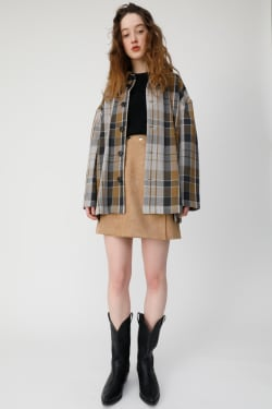 OVER CHECK SHIRT Jacket