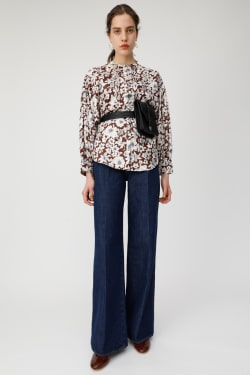 FLOWER PRINTED JACQUARD shirt