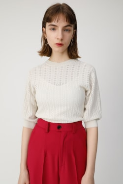 LACY KNIT top