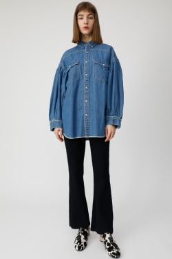 VOLUME SLEEVE DENIM SHIRT