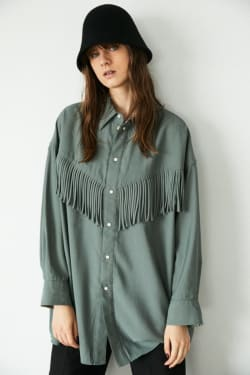 FRINGE OVER SHIRT