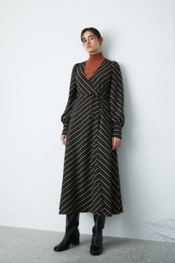 CACHE COEUR STRIPE DRESS