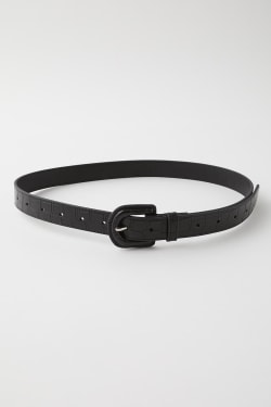 ENBOSSED LEATHER belt