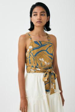 FLORAL WAVE CAMI blouse