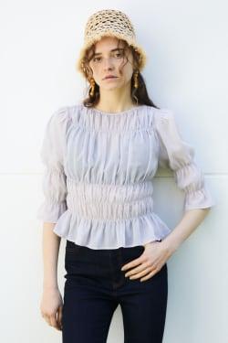 SHIRRING blouse
