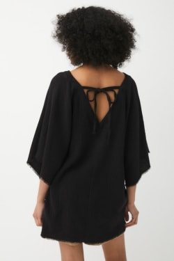 FRINGE V NECK TOP
