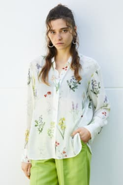 BOTANICAL SHEER shirt