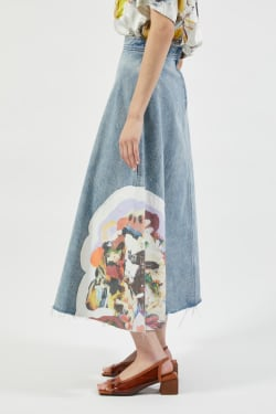 PU HOME DENIM skirt