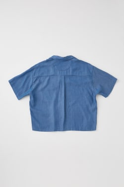 MOUSSY VINTAGE OPEN COLLAR TENCEL BLU SH