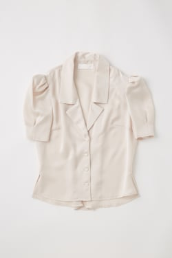 MV SATIN PUFF SLEEVE BLOUSE