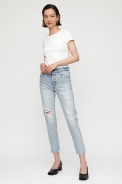 MV MELVIN TAPERED HIGH-WAISTED JEANS