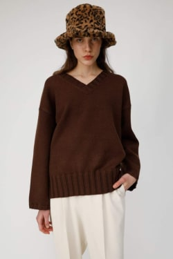 WIDE SLEEVE LOOSE KNIT TOP