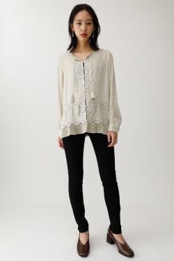 PLEAT HEM blouse