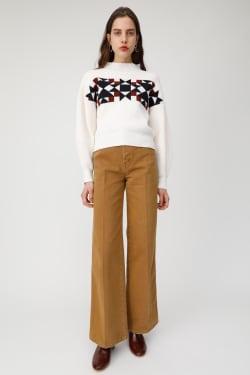 TEXAS PATTERN knit tops