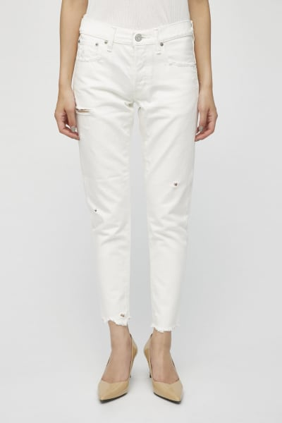 MV Kelley White Tapered Jeans