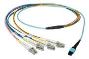Dell MPO(F) to 4xLC(D) Fibre Cable 1M 0TDNF