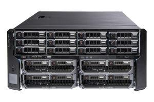 Dell PowerEdge VRTX 1x12 - 12 x 4TB SAS 7.2k, 4 x M630, 2 x E5-2650 v3, 128GB, 2 x 400GB SAS SSD, PERC H730, iDRAC8 Enterprise